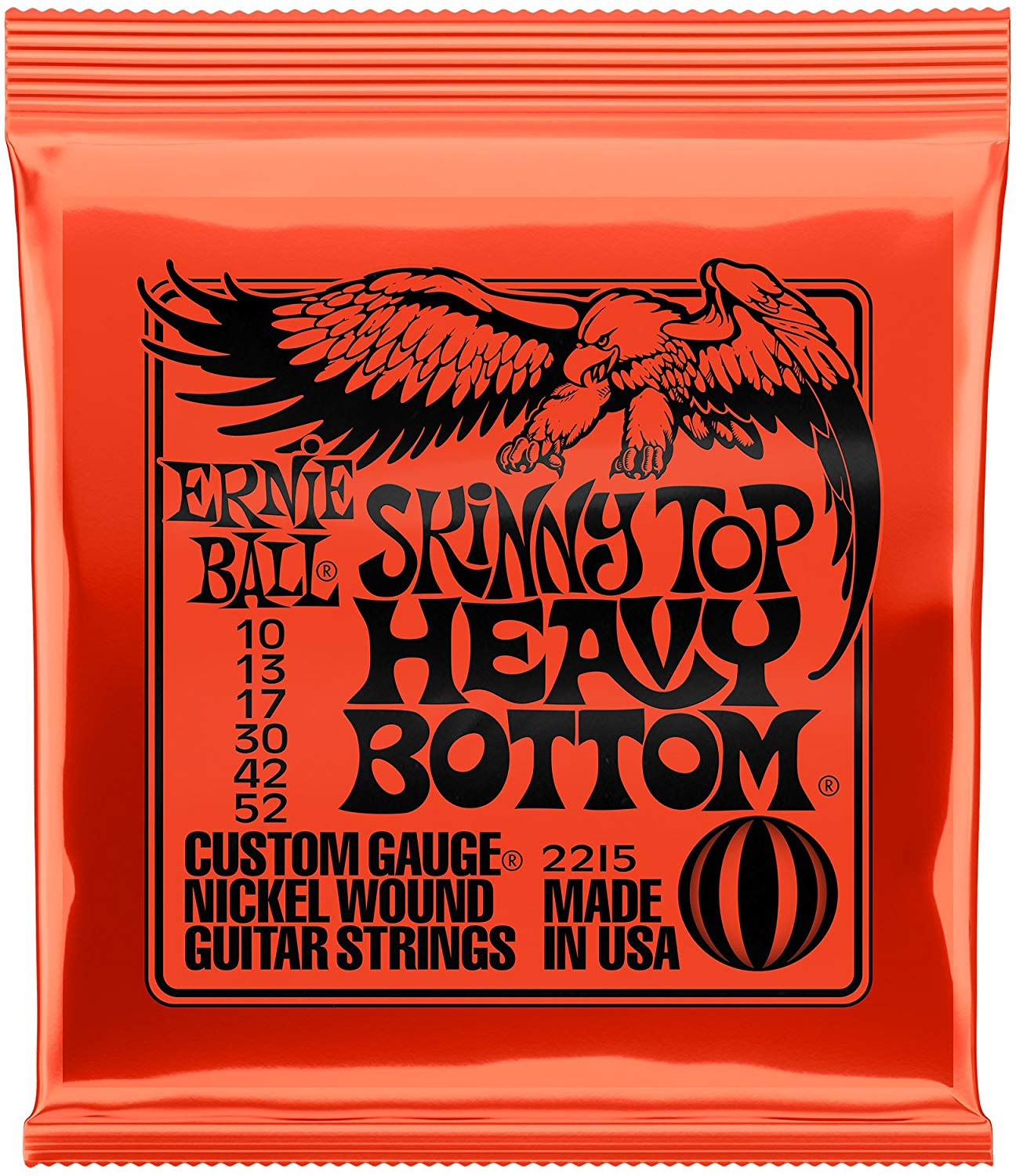 Dây đàn guitar điện 2215 ,Ernie Ball Skinny Top Heavy Bottom Electric Guitar Strings 2215