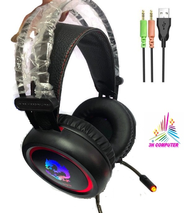 Tai Nghe Dragon 9999 (Headphone Gaming) Có Led