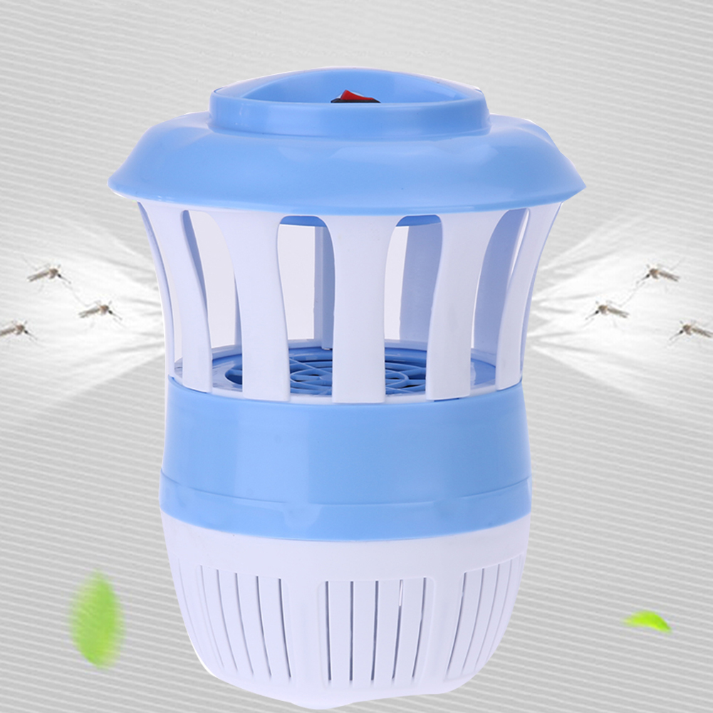 Blue/Pink USB Electric Mosquito Repeller Lamp Photocatalyst Mosquito Killer Fly Insect Killer Catcher Trap with Light