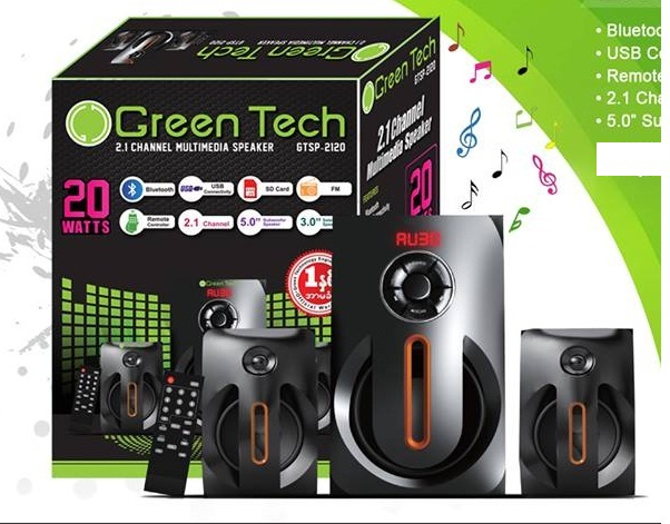 Loa vi tính bluetooth Green Tech GTSP-2120 20W 2.1