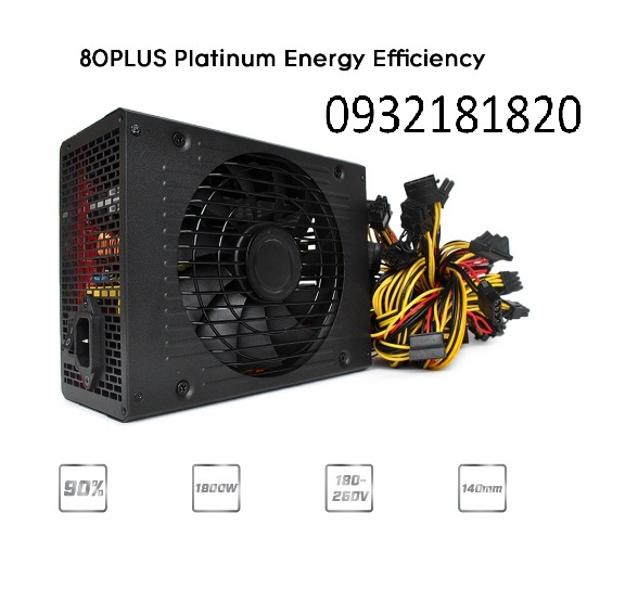 1800W Switching Power Supply 80% Plus Platinum Efficiency