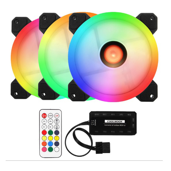 Bộ 3 Fan LED RGB  COOLMON RGB - HUB -REMOTE