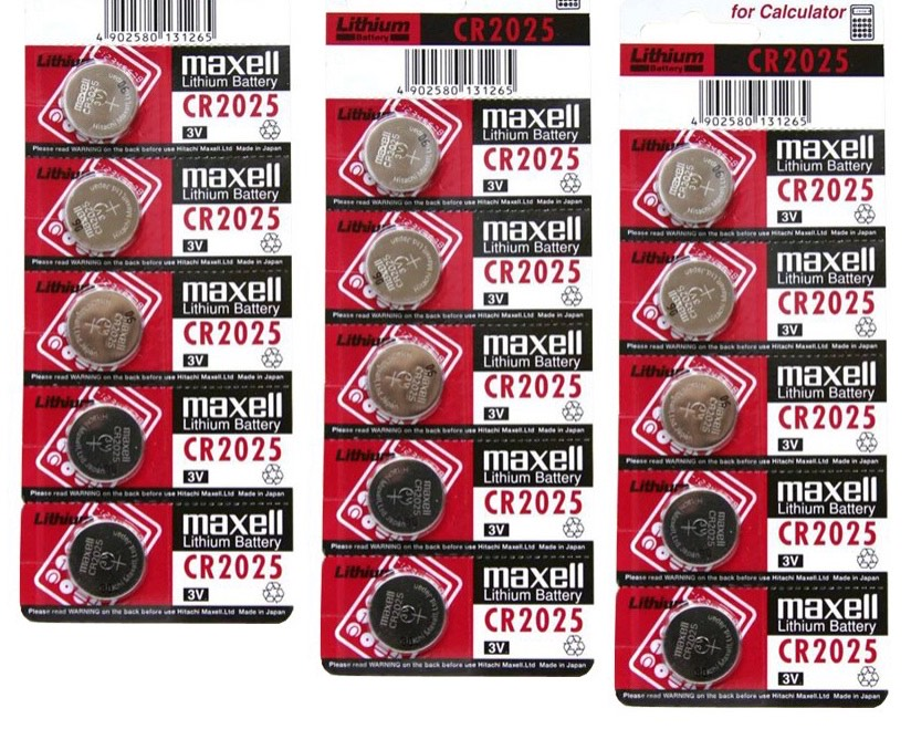 Pin CMOS CR2025 Maxell Lithium Battery 3V vỉ 5 viên